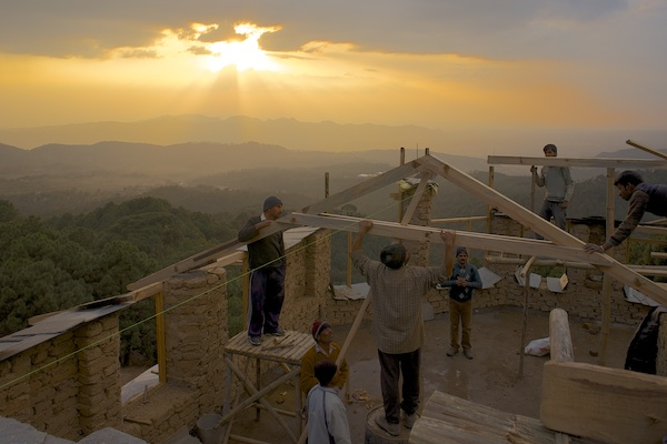 Trusses at sunset