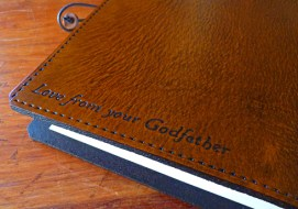 Earthworks Journals personalised leather journal