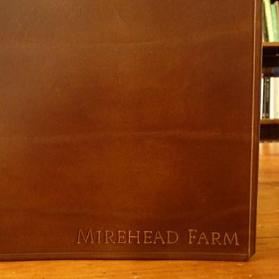 Earthworks Journals Custom text on Dark Brown Leather Ringbinder