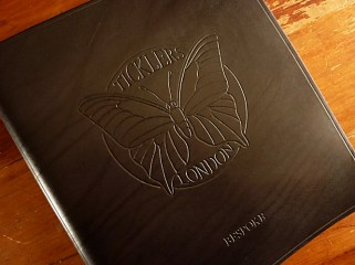 Earthworks Journals Black Leather Binder For Ticklers Bow Tie Company