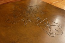 Rosicrucian Cross on leather ring binder - Earthworks Journals