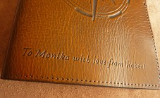 Earthworks Journals Custom Inscription on our Compass Rose Leather Journal