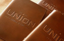 Earthworks Journals Custom Leather Menu Covers for Union Table & Tap