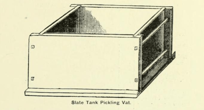 pickling tank