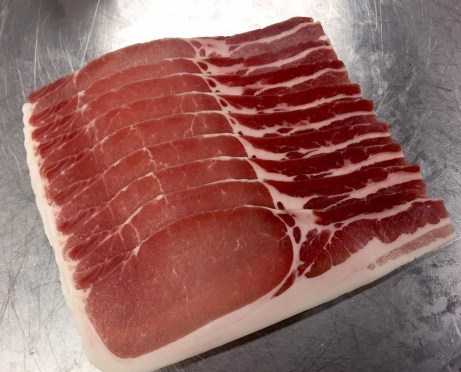 bacon dry cured