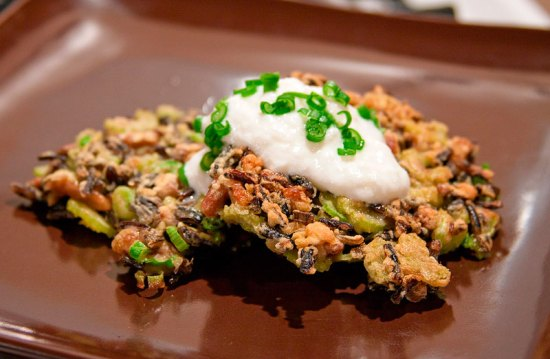 Canadian Lake Wild Rice Cakes with Greek-style Yogurt