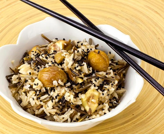 Wild and Tame Rice with Chestnuts