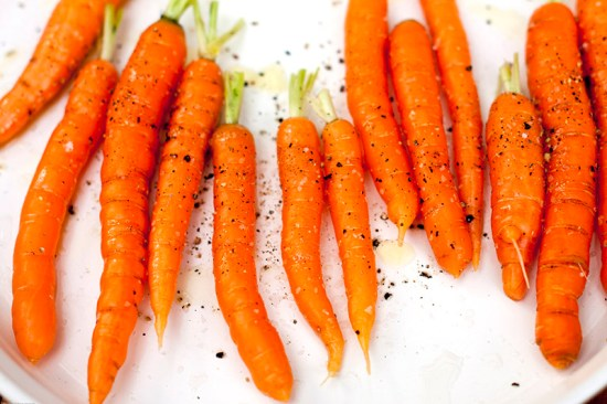 Carrots ready for the grill