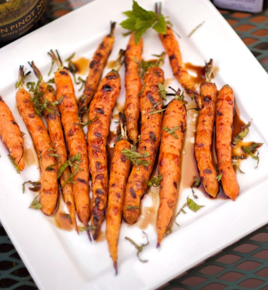 Fire-roasted Carrots with Mint