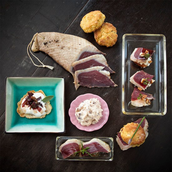 Five ways with duck proscuitto