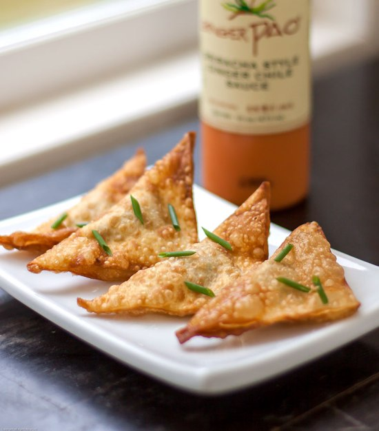 Crisp Fried Wild Mushroom Wontons with Ginger Pao
