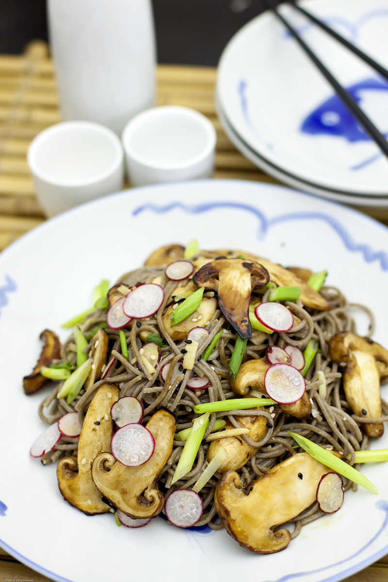 Soba Noodles with Roasted Matsutake Mushrooms