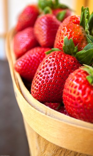Fresh, ripe strawberries