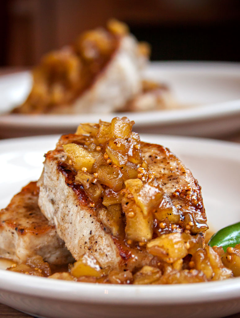 Pork Chops with Maple Mustard Glaze