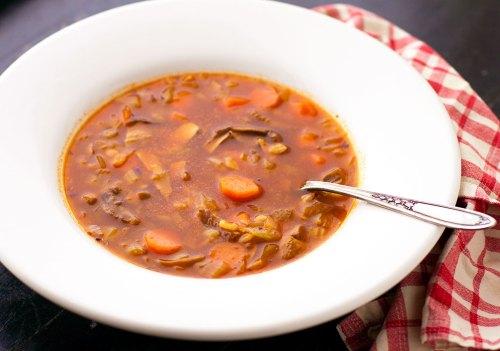Wild Mushroom Barley Soup II