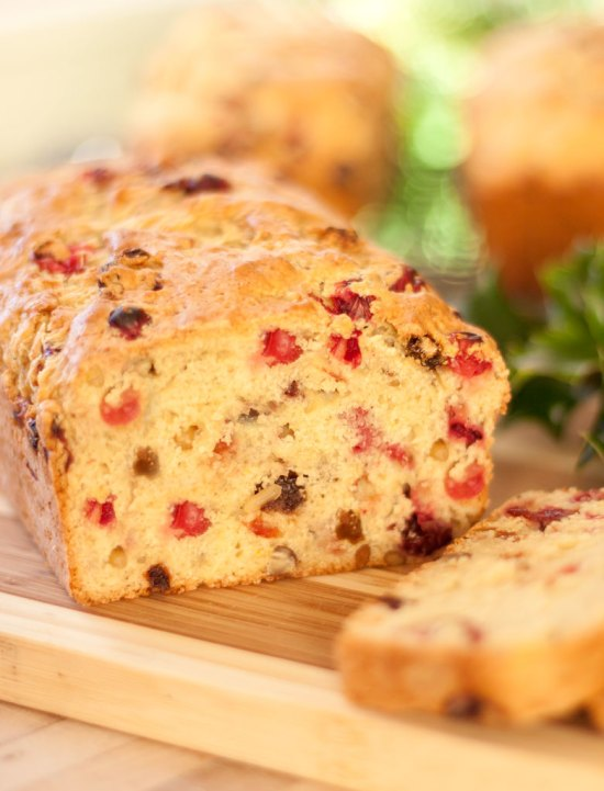 Double Cranberry-Orange Bread with Chestnuts