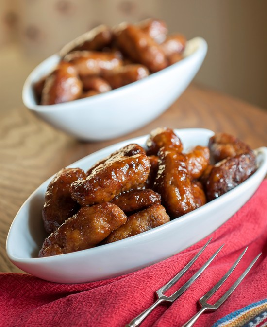 Pig Fingers with Spicy Maple Syrup & Smoked Sugar-Mustard Glaze