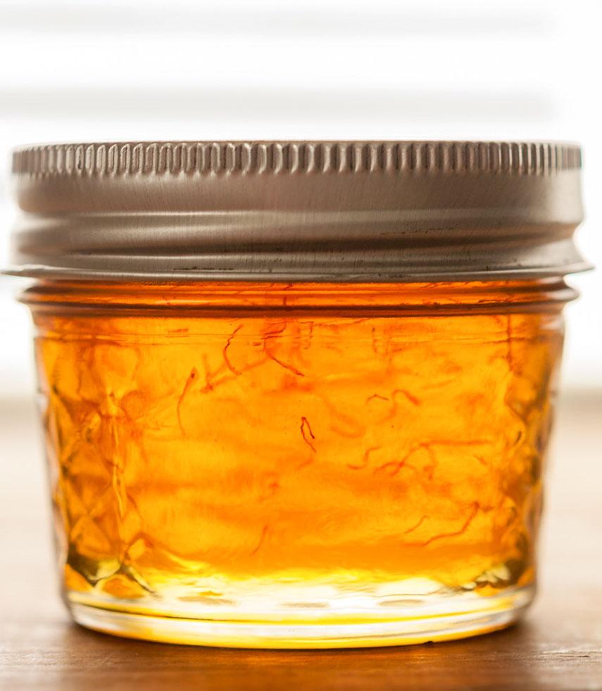 The Earthy Delights Recipe Blog | Saffron & Vanilla Infused Honey
