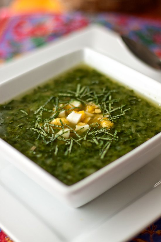 Stinging Nettle & Potato Soup with Mint