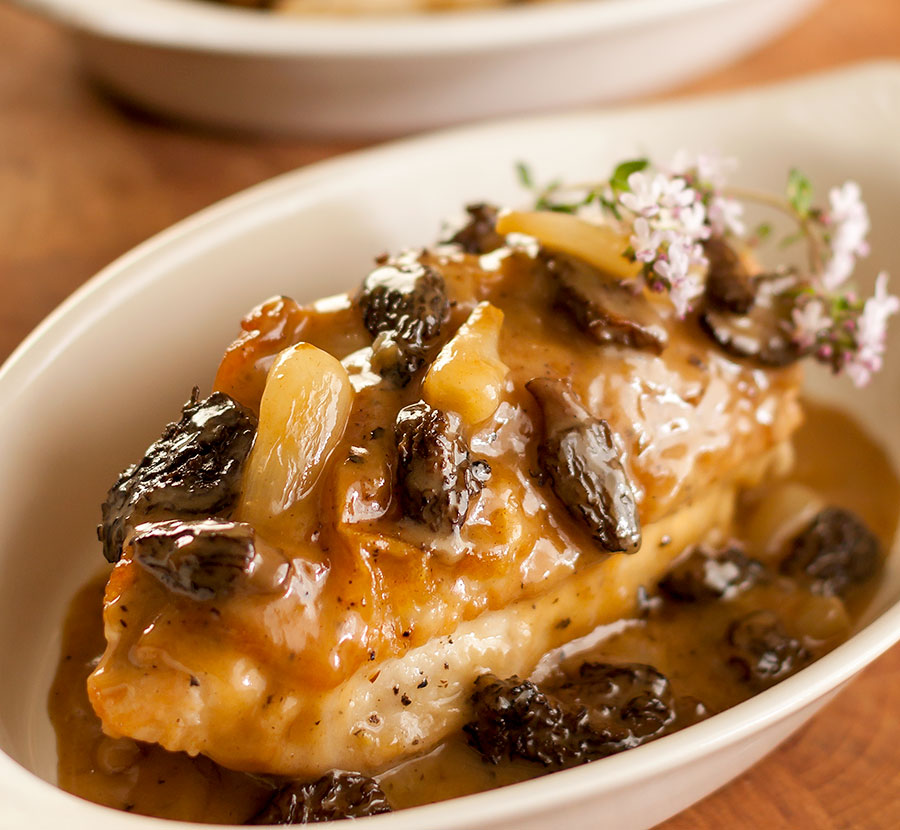 Chicken Marsala with Morels and Ramps