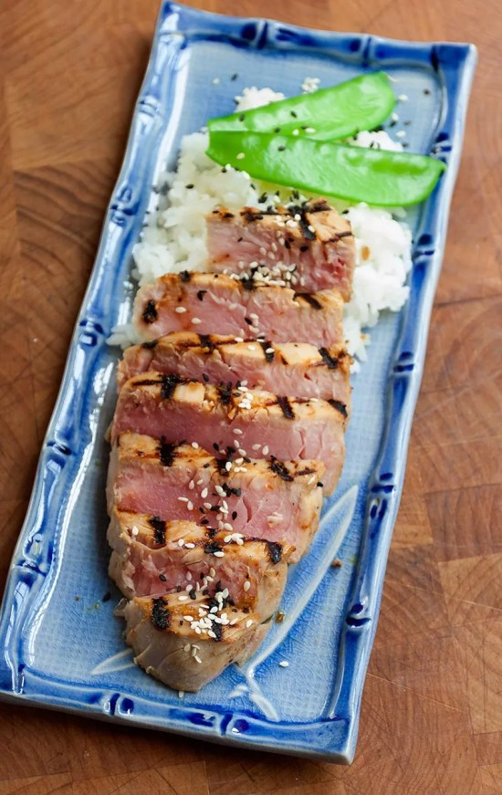 Grilled Ahi Tuna with Yuzu Kosho-Miso Glaze