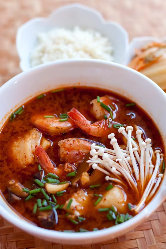 Warm Up with Korean-style Seafood Jjigae