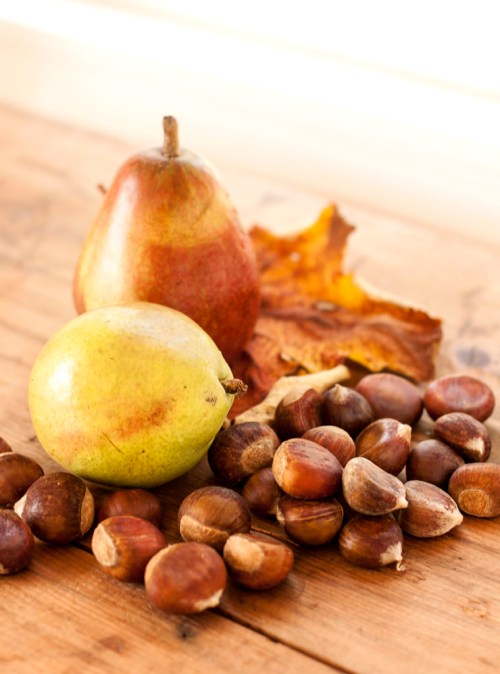 Fall harvest: Pears & chestnuts