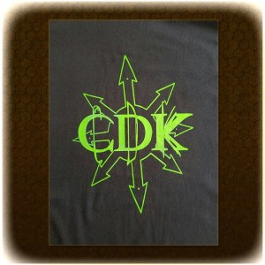 "Green on Black CDK ""Chaos"" T-Shirt"