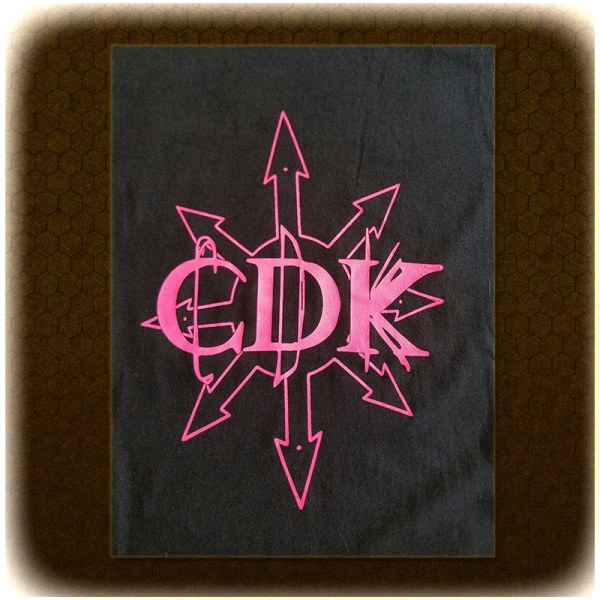 "Pink on Black CDK ""Chaos"" T-Shirt"