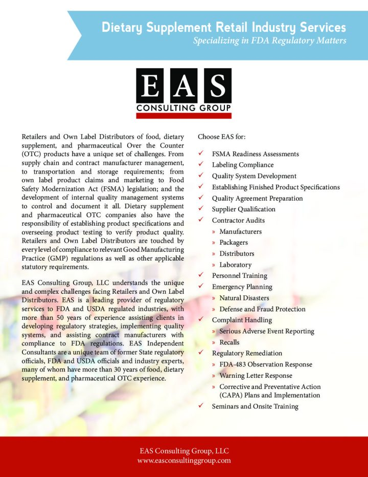Service Information Sheets Eas Consulting Group