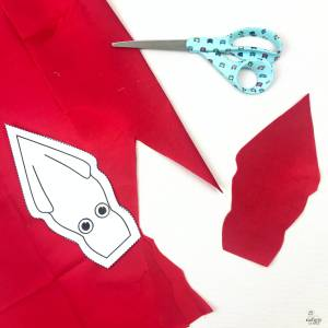 cat toy squid - free template #diy #freetemplate #sewing #freedownload #cattoy