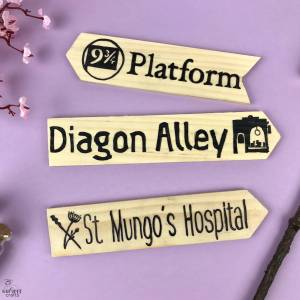 free template - do it yourself Harry Potter Sign Post #harrypotter #signpost #diy