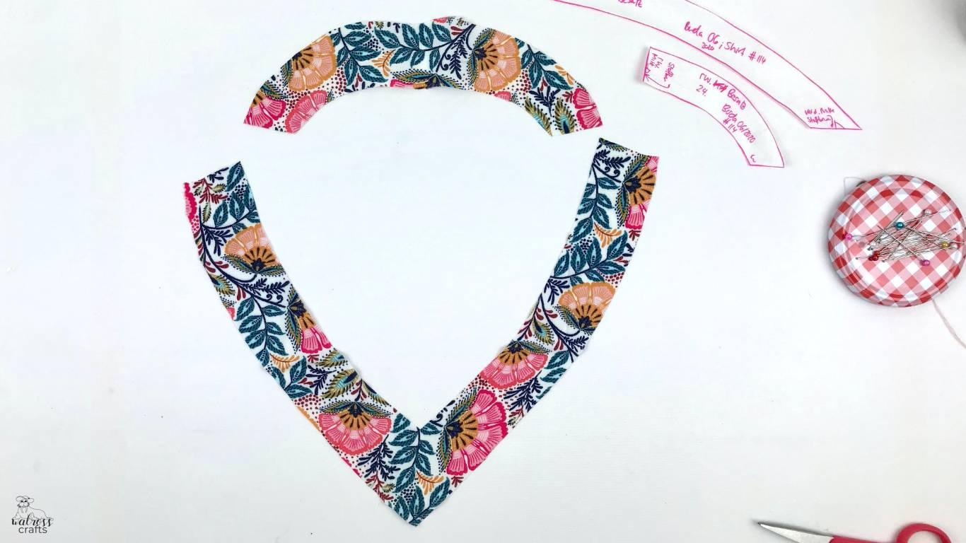 tutorial how to sew a Burda shirt with a flutter sleeve #burdastyle #sewingtutorial