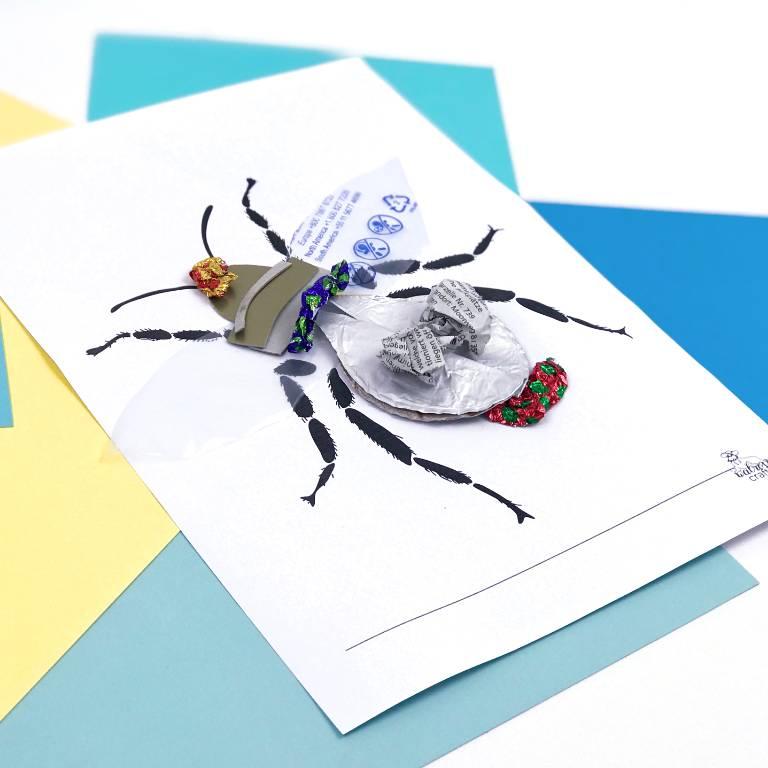 creative bug art for kids #freetemplate #diy #art #artforkids