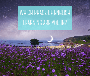 You learn English in phases