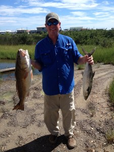 James with Red and Mackeral 2016 Saltwater Challenge
