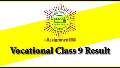 Vocational Class 9 Result