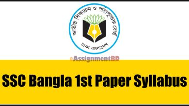 SSC Bangla 1st Paper Syllabus