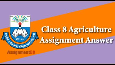 Class 8 Agriculture Assignment