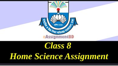 Class 8 Home Science Assignment