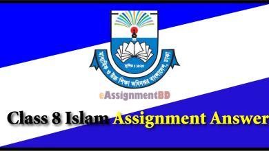 Class 8 Islam Assignment Answer