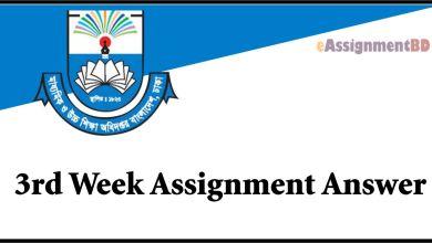 3rd Week Assignment Answer