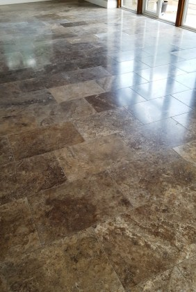 Polished Travertine Floor After Cleaning Eaton