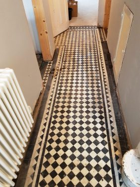 Black White Victorian Hallway Floor Before Cleaning Hale Barns
