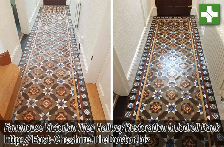 Farmhouse Victorian Tiled Floor Before After Restoration Jodrell Bank