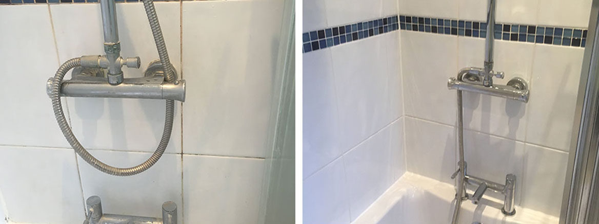 Ceramic Tiled Bathroom Wall Before After Renovation Handforth