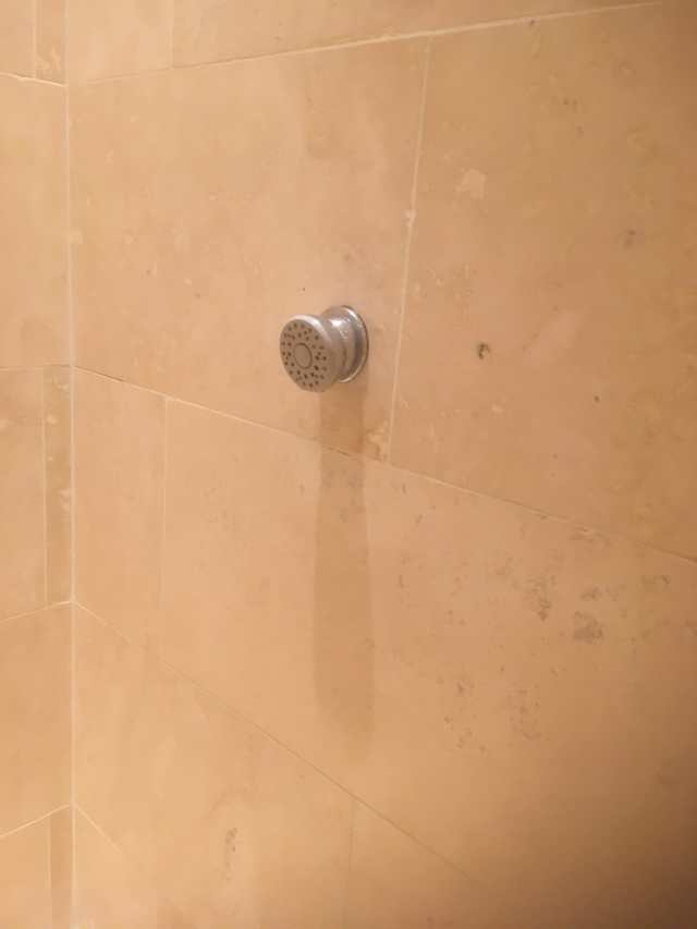20 Year Old Travertine Shower Cubicle After Renovation Hale Barns