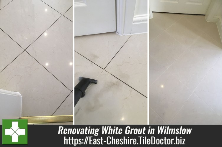 Ceramic Floor Tile Grout Before After Cleaning Wilmslow