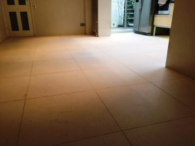 Limestone Tiles before cleaning in Hastings