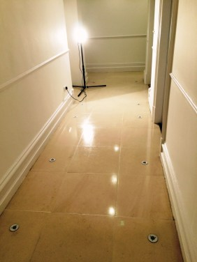Brighton Luxury Flat Limestone Floor After Cleaning